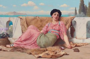 The Quiet Pet by John William Godward